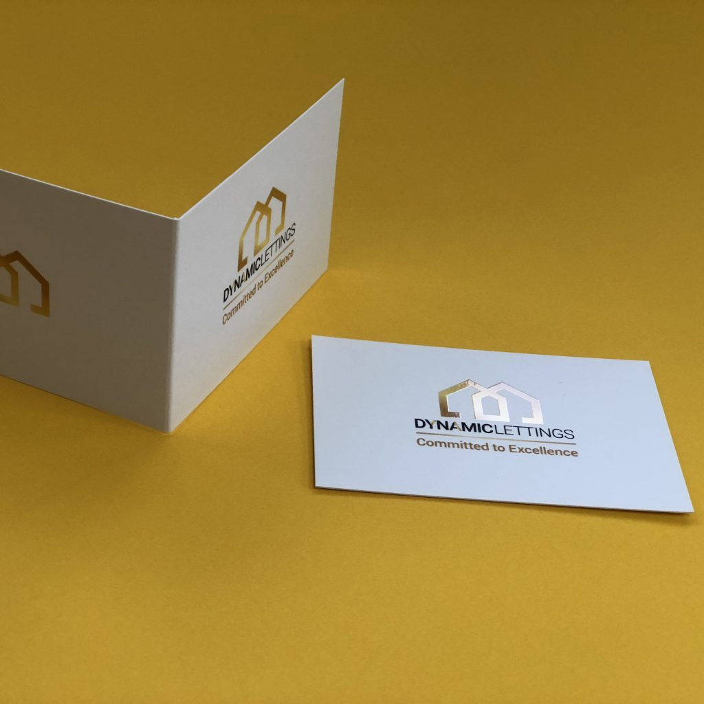 Spot UV Gloss Folded Business Card