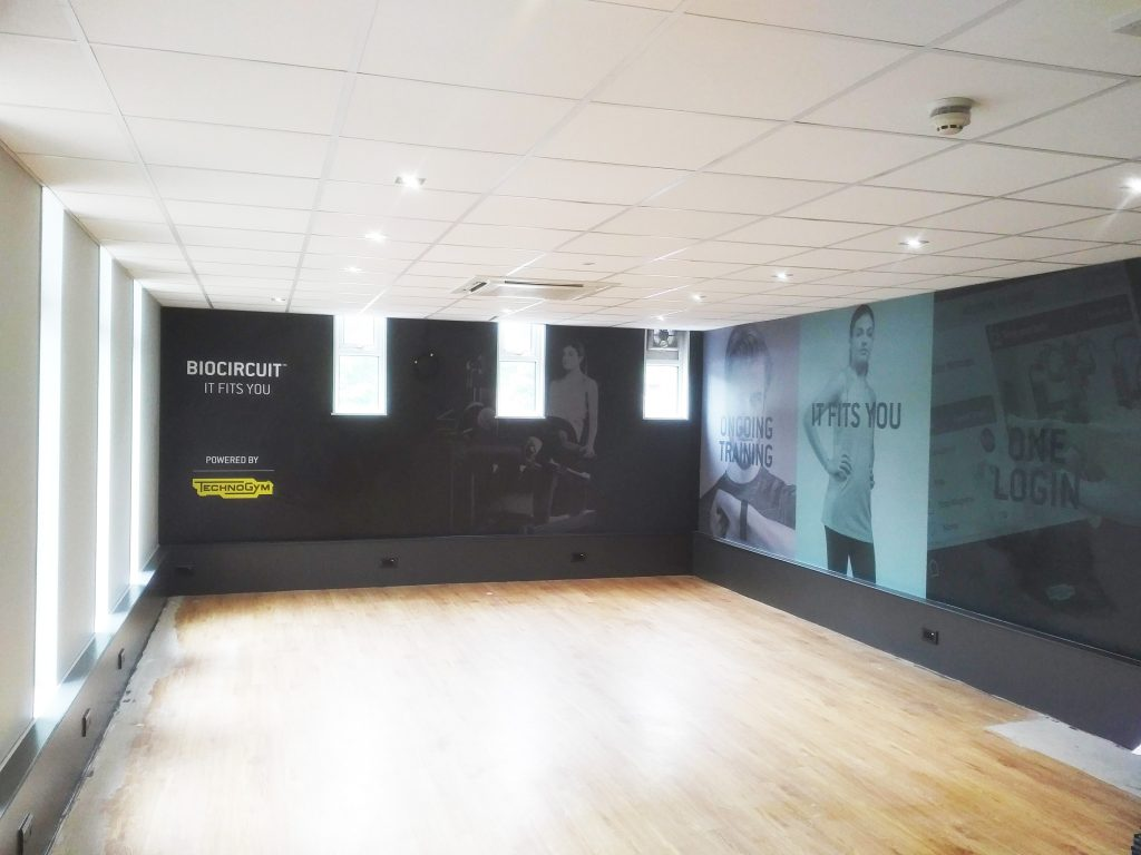 Wallpaper Wall Graphics for gym