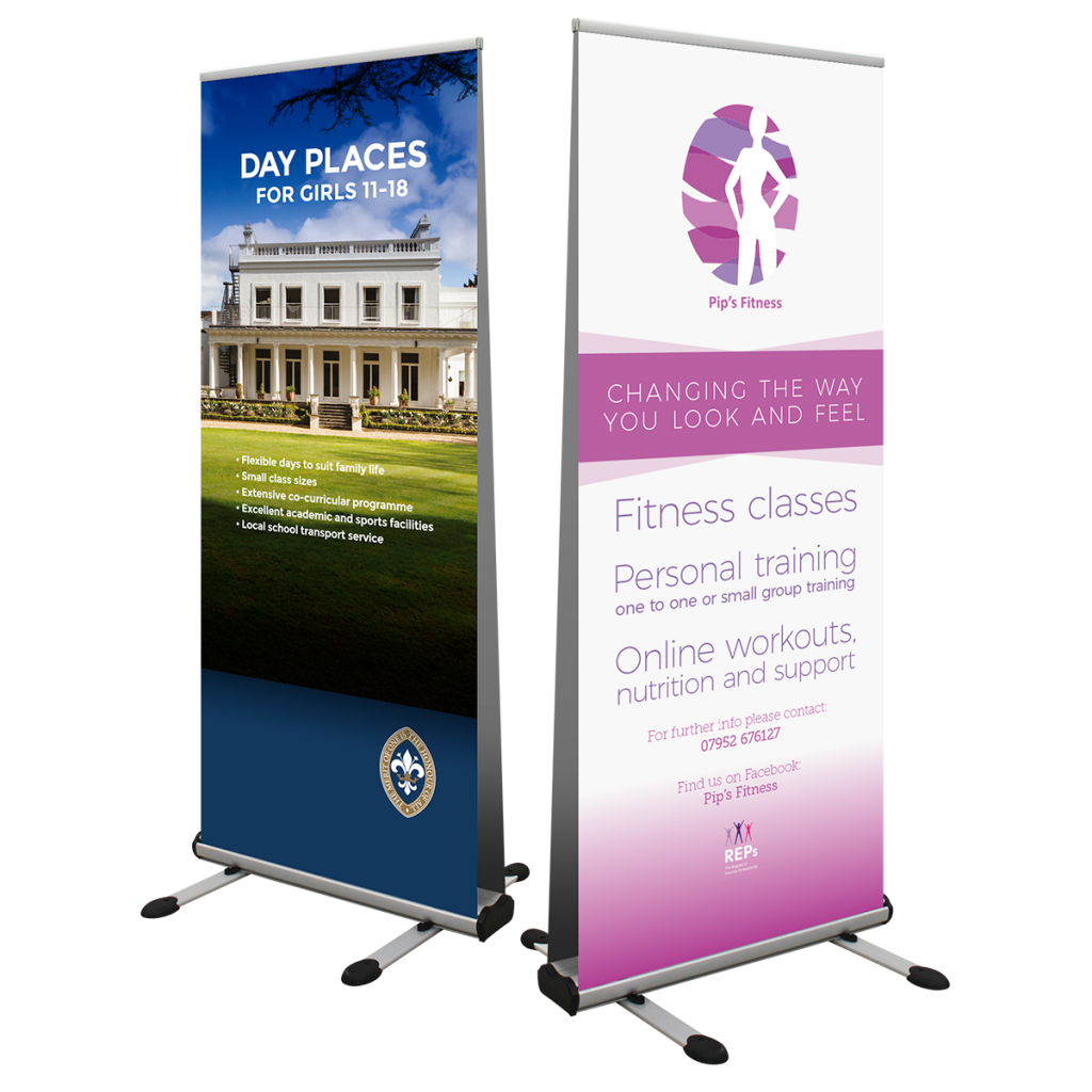 Outdoor Double Sided Pull Up Roller Banner